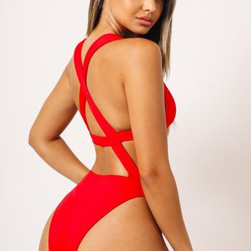 Sophia One Piece Red
