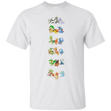 POKEMON - 20TH ANNIVERSARY ALL STARTERS (NO PIKACHU) T SHIRT