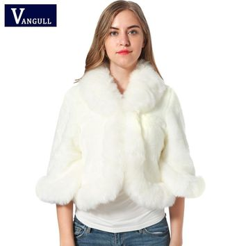 Fur Faux Fur Coat Mink Hair Rex Rabbit Hair Cape Jacket Black White Fur Overcoat Imitation Rabbit Fur Faux Fox Collar XXXL