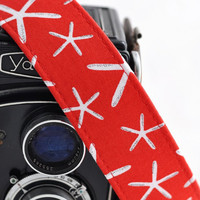 Canon Camera Strap - Red Sea Stars - Camera Straps for Nikon - Photographer Gifts