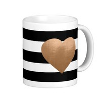 Metallic Girly Heart Coffee Mug