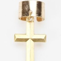 Metal Cross Ear Cuff