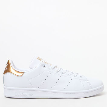 adidas Women's Stan Smith Rose Gold and White Sneakers at PacSun.com