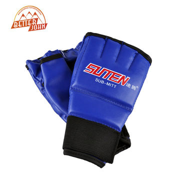 SUTENBrand Upscale Boxing Gloves training equipment Half Finger Mitts Gloves Breathable Leather Gloves Sandbags Punching Gloves