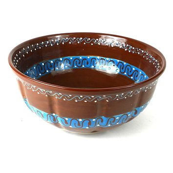 Large Bowl - Chocolate Mexican Pottery