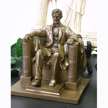 Abraham Lincoln 8 Sitting Statue