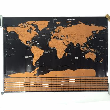 world map the world country national flag map Deluxe  Map