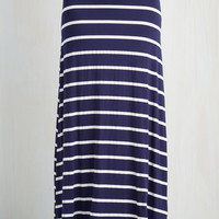 Nautical Long Maxi Nautical for Love Skirt by ModCloth