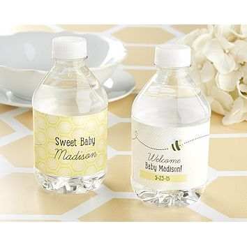 """Kate's """"Sweet as can Bee"""" Personalized Water Bottle Labels"""