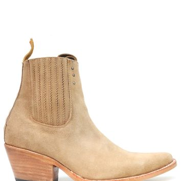 No.1001 FREEWAY chelsea boot lenni the label x pskaufman... Tan suede