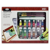 Royal & Langnickel 22-piece Watercolor Painting Art Set (Graphite/White/Black)