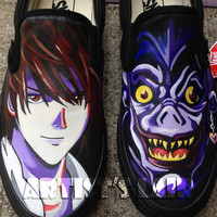 Customizable Anime Inspired Hand Painted Slip On Shoes! Any Size, Vans or Mossimo Brand