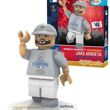Chicago Cubs JAKE ARRIETA World Series T-Shirt Limited Edition OYO Minifigure