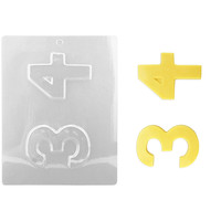 Number 3 4 Chocolate Mold