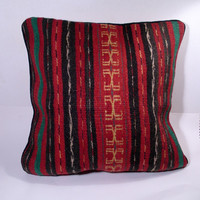 Vintage Hand Woven Wool Pillow Cover