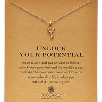Dogeared 'Reminder - Unlock Your Potential' Key Pendant Necklace | Nordstrom