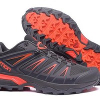 VONE8H5 Salomon Ultra Trail Running Shoes  Outdoor Trainers Gray & Orange Sneakers