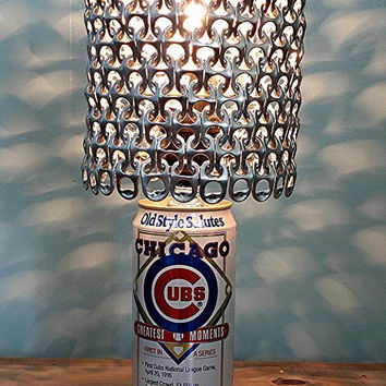 Old Style Salutes Chicago Cubs Greatest Moments Special Edition Beer Can Lamp