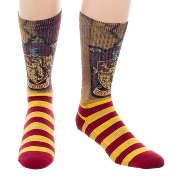 Harry Potter Gryffindor Sublimated Crew Socks
