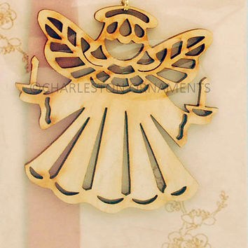 Angel Custom Engraved Wooden Ornament FREE PERSONALIZATION
