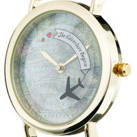 ASOS Rotating Globe Adventure Watch
