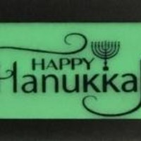 Glow in the Dark Menorah Signs