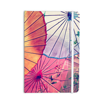 "Sylvia Cook ""Colorful Umbrellas"" Multicolor Everything Notebook"
