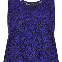 Scallop Lace Vest - Jersey Tops - Clothing - Topshop USA