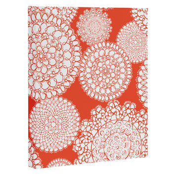 Heather Dutton Delightful Doilies Saffron Art Canvas