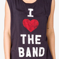 I Heart The Band Graphic Muscle Tee