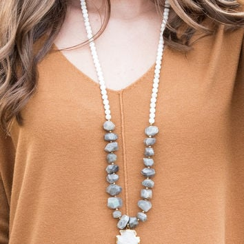 The Natalie Necklace, Labradorite | BPD
