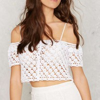 Glamorous Crochet What's Up Hello Crop Top