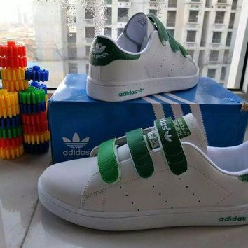 ESBONS Adidas STAN SMITH' Fashion Casual Unisex Plate Shoes Sneakers Couple Velcro Small Whi