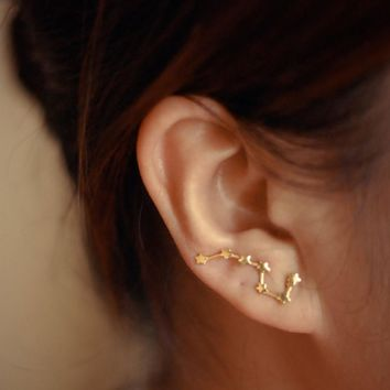 Zodiac Constellation Ear Climbers