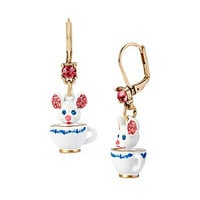 PRINCESS CHARMING TEACUP EARRINGS: Betsey Johnson