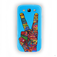 Peace No War Colorfuls Painting For Samsung Galaxy S3 Case