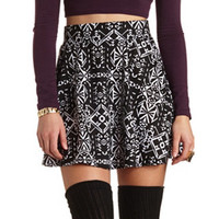 TRIBAL PONTE SKATER SKIRT