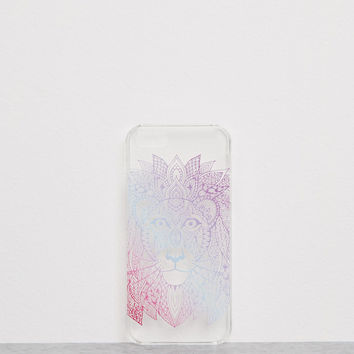 Embossed ethnic lion transparent iPhone 5/5s case - Accessories - Bershka Germany