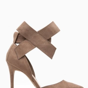 Nude Faux Suede Bow Accent Ankle Strap Pointy Heels @ Cicihot Heel Shoes online store sales:Stiletto Heel Shoes,High Heel Pumps,Womens High Heel Shoes,Prom Shoes,Summer Shoes,Spring Shoes,Spool Heel,Womens Dress Shoes