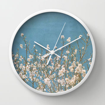 Reaching for Spring Wall Clock by Lisa Argyropoulos