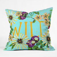 Land Of Lulu Wildflower Throw Pillow