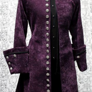 Shrine - GALLEON PIRATE COAT - PURPLE VELVET