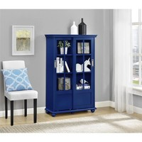 Altra Aaron Lane Navy Bookcase with Sliding Glass Doors | Overstock.com Shopping - The Best Deals on Media/Bookshelves