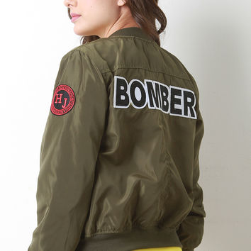 Real Deal Bomber Patch Jacket