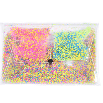 Clear Clutch transparent Envelope bag Party jelly neon beads Purse bag clear bag clutch envelope bags vegan beads Transparent Clear Purse