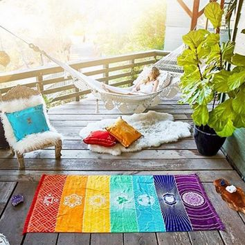Bohemia Wall Hanging  7 Chakra Colored Tapestry