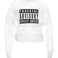 Parental Advisory Sweatshirt by Alexander Wang