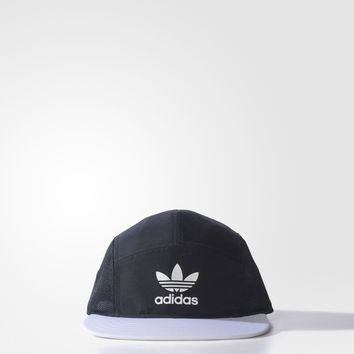 adidas Originals Men's Strapback Flat Peak Baseball Cap - Black & Grey