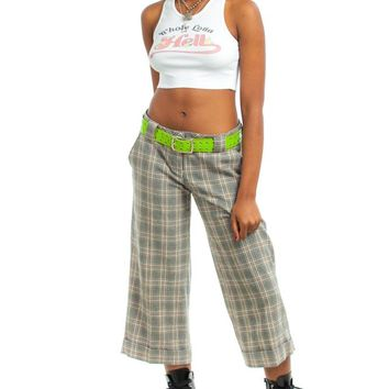 Vintage Y2K Stef Cropped Plaid Pants - M/L