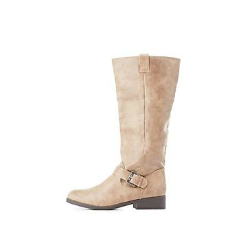 Buckled Riding Boots | Charlotte Russe